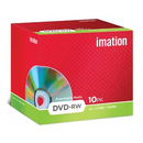 Imation DVD rewritable DVD- RW, paquet de 10 pièces (Jewel Case)
