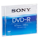 SONY® DVD- R, max.16x, 4,7 GB/ 120 min, 10 Slimcases